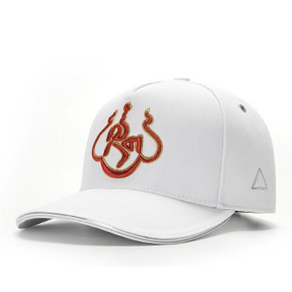 GC岗措棒球帽 喜马拉雅文化原创品牌 白红色 莲花 男女通用款户外帽子棒球帽 帽围可调节!