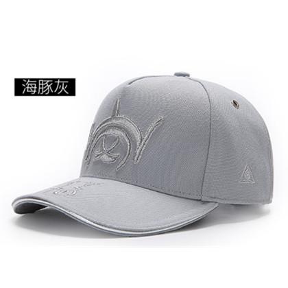 GC岗措棒球帽 喜马拉雅文化原创品牌 岗系列 海豚灰 可调节帽围 男女通用旅行户外帽子