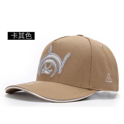 GC岗措棒球帽 喜马拉雅文化原创品牌 岗系列 卡其布银标 可调节帽围 男女通用旅行户外帽子
