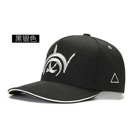 GC岗措棒球帽 喜马拉雅文化原创品牌 岗系列 黑布银标 可调节帽围 男女通用旅行户外帽子