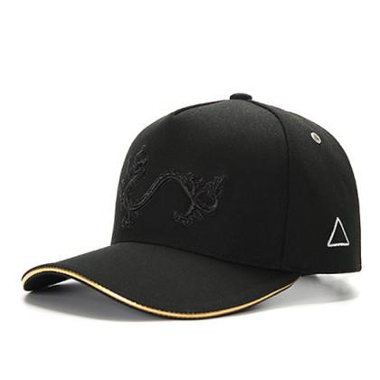 GC岗措棒球帽 喜马拉雅文化原创品牌 天龙护法系列 黑布黑标 可调节帽围 男女通用旅行户外帽子