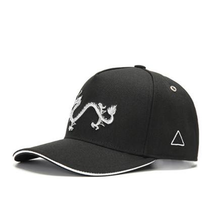 GC岗措棒球帽 喜马拉雅文化原创品牌 天龙护法系列 黑布银标 可调节帽围 男女通用旅行户外帽子