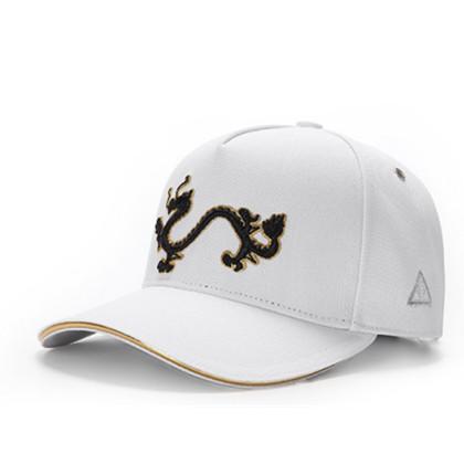 GC岗措棒球帽 喜马拉雅文化原创品牌 天龙护法系列 白布黑标 可调节帽围 男女通用旅行户外帽子