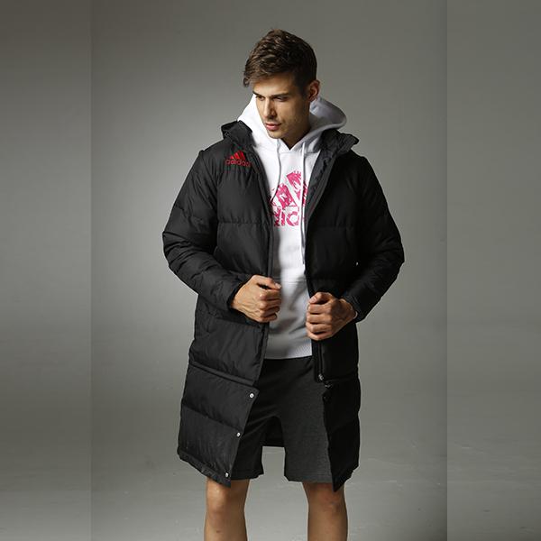 阿迪达斯Adidas ADIPK01 中长款羽绒服 AMOVIBLE PARKA 黑色款 200g填充物 80%灰鸭绒