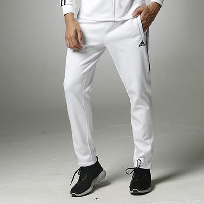 阿迪达斯Adidas TR-51 跑步运动长裤男女宽松休闲款 白色款