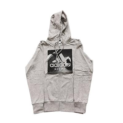 阿迪達斯Adidas ADIBGJ02 針織連帽衛衣針織運動服秋季外套 灰色款
