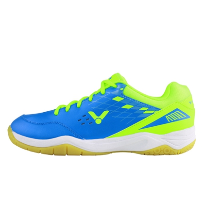 胜利VICTOR SH-A100MG 羽毛球鞋 水蓝/荧光绿 3.0宽楦型