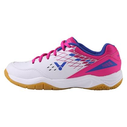 胜利VICTOR SH-A100AQ 羽毛球鞋 白/玫瑰红 女款 3.0宽楦型