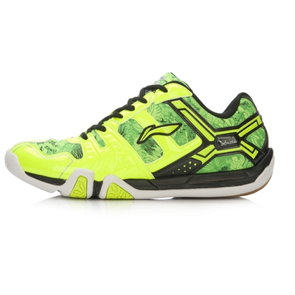 李宁羽毛球鞋 AYTL074 女款  荧光亮绿 轻便防滑羽毛球鞋(贴地飞行TD版)