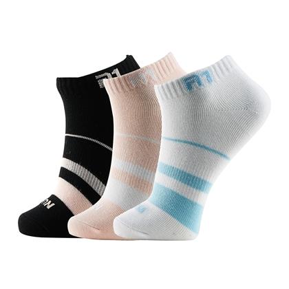 泰昂TAAN运动袜 T-157 女款 船袜,薄款 三双混色装(防臭、柔软、耐磨、包裹)