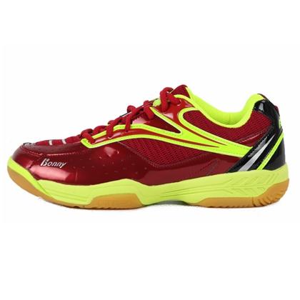 波力BONNY 羽毛球鞋 乐活910R 红/绿,初级专业羽毛球鞋,室内室外羽鞋