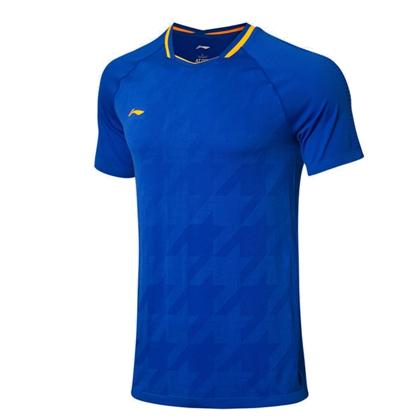 李宁比赛上衣 AAYP025-2 男款 海滨蓝 全英大赛球迷款