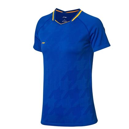 李寧比賽上衣 AAYP026-2 女款 海濱藍 全英大賽球迷款