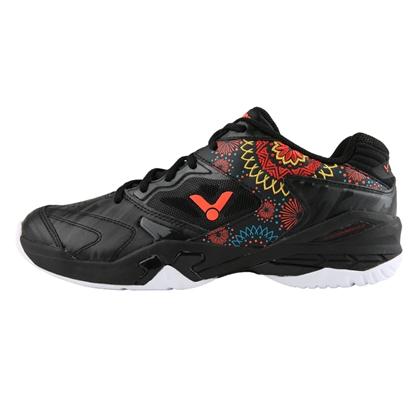 胜利VICTOR羽毛球鞋 SH-P9200FL 黑色 烟花绽放,男女款羽毛球运动鞋,专业比赛鞋,电绣印花中国风 潮流款