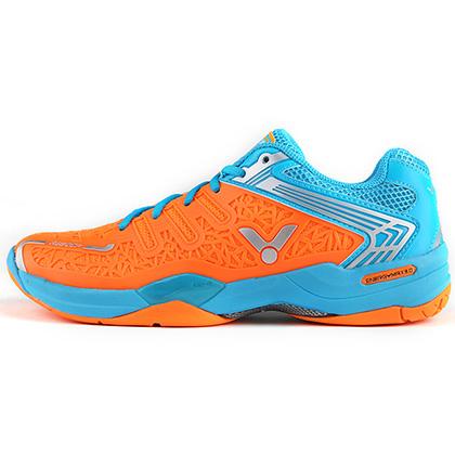 胜利VICTOR羽毛球鞋 A830SP-OF全面型羽毛球鞋 荧光橘/夏威夷蓝