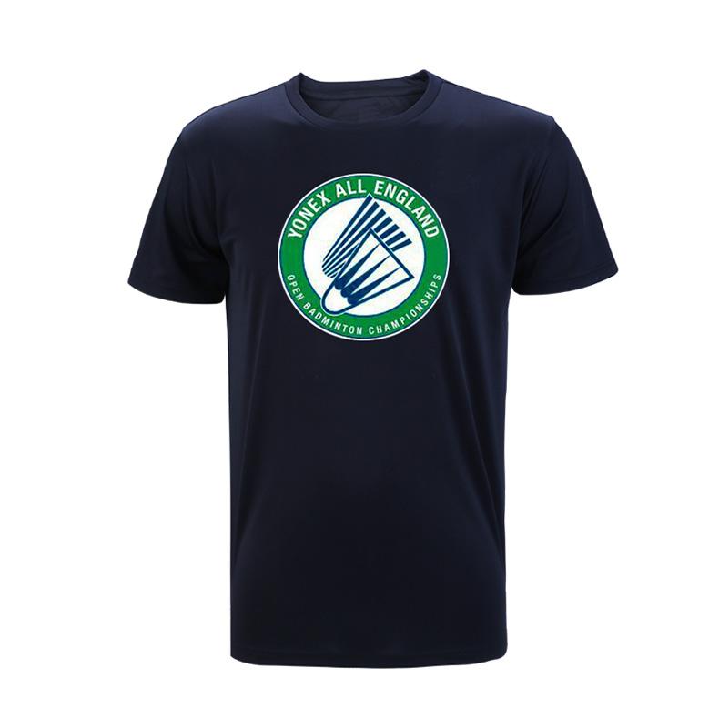 尤尼克斯YONEX羽毛球服 YOB19112CR-007短袖T恤 男 黑色(2019全英赛纪念T恤)