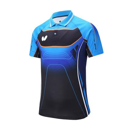 蝴蝶Butterfly BWH-274-0214 蓝色 乒乓球短袖T恤 男女通用