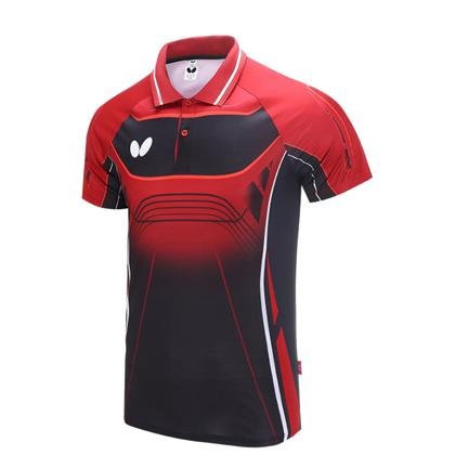蝴蝶Butterfly BWH-274-0201 红色 乒乓球短袖T恤 男女通用