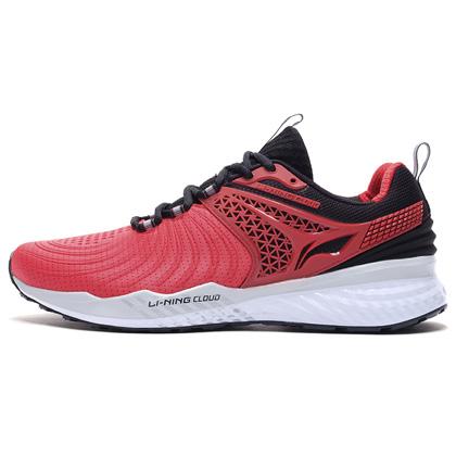 李宁跑步鞋 云五代V2 ARHP013-3 男 赤樱红/标准黑(云减震,莱卡压立体后跟)