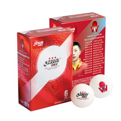红双喜 国际乒联世界巡回赛乒乓球D40+ 6只装