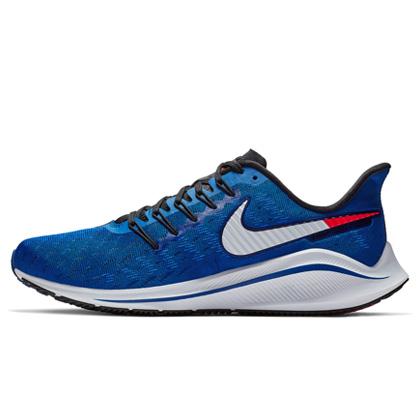 耐克跑步鞋 NIKE AIR ZOOM VOMERO 14 男 AH7857-400 力量靛青/轨道红/空间蓝/清透蓝