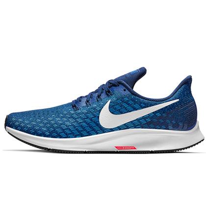 耐克跑步鞋 Nike Air Zoom Pegasus 35(飞马35) 男 力量靛青/清透蓝/空间蓝/白色