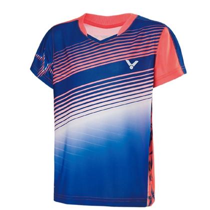 胜利VICTOR 儿童羽毛球服 儿童羽毛球T恤男童女童7-12岁 T-72003B 藏青蓝 单向导湿 吸湿导汗