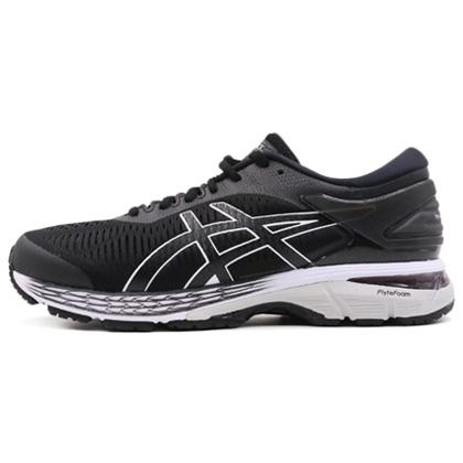 亚瑟士ASICS跑步鞋 KAYANO25(K25)男稳定支撑跑鞋 1011A019-003 黑色/灰色