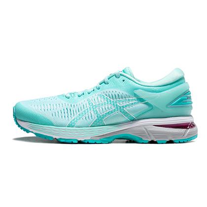 亚瑟士ASICS跑步鞋 KAYANO25(K25)女稳定支撑跑鞋 1012A026-402 淡绿/蓝色