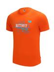 蝴蝶Butterfly BWH-826-06 橙色乒乓短袖T恤 男女通用