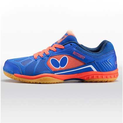 蝴蝶L2专业乒乓球鞋L-2 宝蓝/橘色 男女款通用 BUTTERFLY LEZOLINE-2-0506 乒乓球鞋