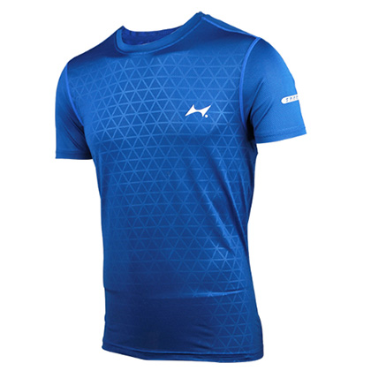 海尔斯跑步T恤 TX-0006 彩蓝色 男/女款(跑团团购款,性价比之选)