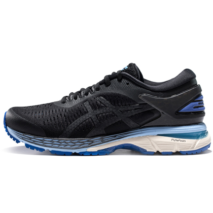 亚瑟士ASICS跑步鞋 KAYANO25(K25)女稳定支撑跑鞋 1012A026-001 黑色/蓝色