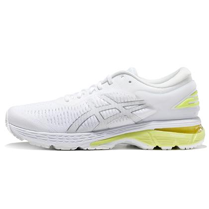 亚瑟士ASICS跑步鞋 KAYANO25(K25)女稳定支撑跑鞋 1012A026-101 白/黄