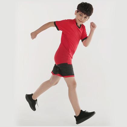 范斯蒂克儿童运动套装 BAT1800402 红色(适合跑步/羽毛球/乒乓球等多项运动)