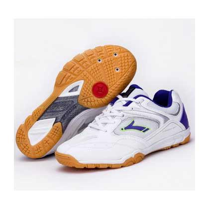 速博特 专业运动鞋ST27003飞龙 乒乓球鞋防滑透气 白/蓝紫
