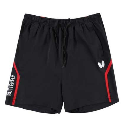 蝴蝶butterfly乒乓短裤 BWS-327-0201 新款专业乒乓短裤 黑红色