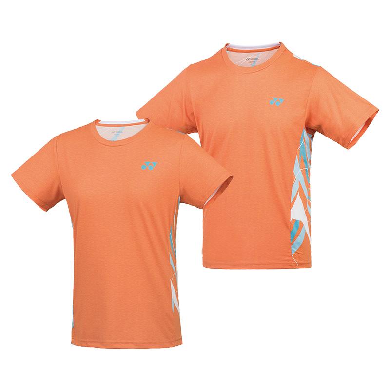 尤尼克斯YONEX 羽毛球服 115029BCR 215029BCR 男款 女款 橘红色