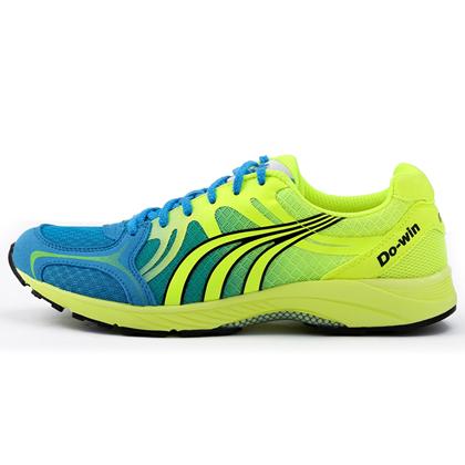 多威Dowin跑步鞋 MR9116A马拉松跑鞋 荧光黄/水蓝