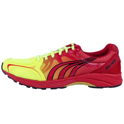 多威Dowin跑步鞋 MR9116B马拉松跑鞋 荧光黄/红