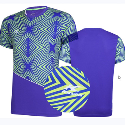 KASON凯胜男款专业羽毛球运动服 短袖比赛上衣速干透气FAYK033-3 蓝色
