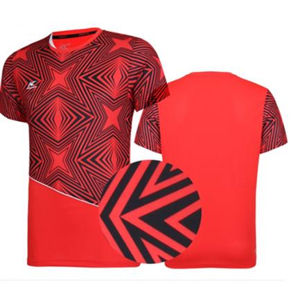 KASON凯胜男款专业羽毛球运动服 短袖比赛上衣速干透气FAYK033-2 红色
