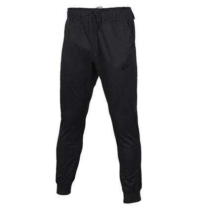 耐克NIKE中/长裤 805099-010 男款黑色机织中长裤(简约舒适,束口设计)