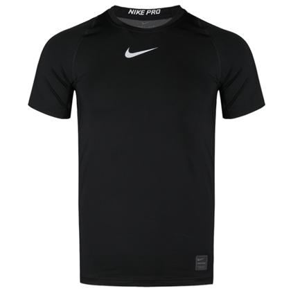 耐克NIKE紧身短袖 838094-010 男款黑色紧身短袖(健身房型男/跑男之选)