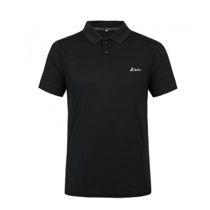 Clothin/卡鲁森新款男士户外速干T恤男士运动短袖T恤透气舒适POLO衫 CT13311 黑色