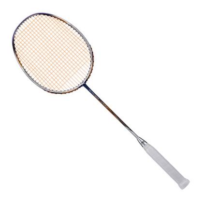 李宁 羽毛球拍 立体风刃200 蓝金 全碳素耐打力量型 进攻 防守性能均衡