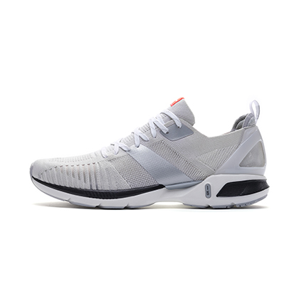 李宁跑步鞋 超轻16代 ARBP009-4 男 微晶灰/标准白(轻透、轻爽、轻盈)