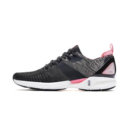 李宁跑步鞋 超轻16代 ARBP012-6 女 标准黑/竺葵粉(轻透、轻爽、轻盈)