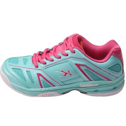凯胜KASON 女款羽毛球鞋 FYTL016-2 电光蓝/胭脂粉 最是回眸一瞬间!