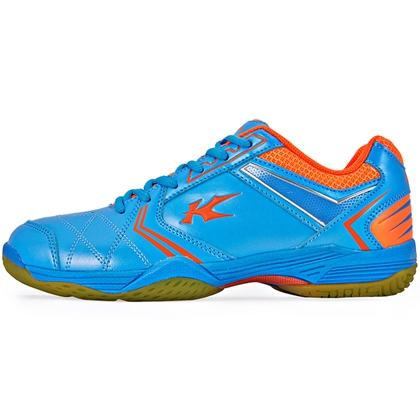 凯胜KASON 男款羽毛球鞋 FYTM005-3 湖蓝色/荧光耀橙 人人都买的起的专业羽鞋